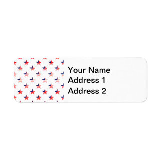 American Glory Star Pattern Return Address Label