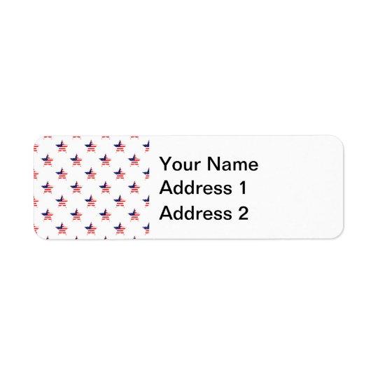 American Glory Star Pattern Return Address Label