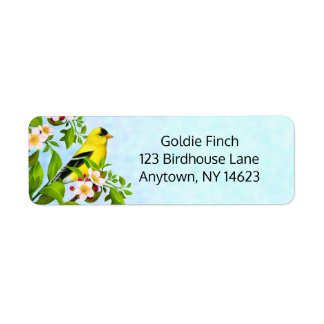 American Goldfinch Bird Address Labels