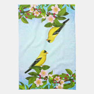 American Goldfinch Bird Hand Towel