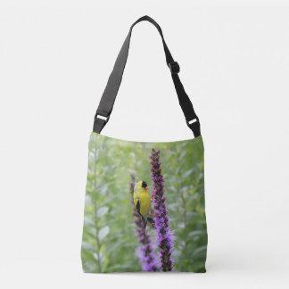 American goldfinch crossbody bag