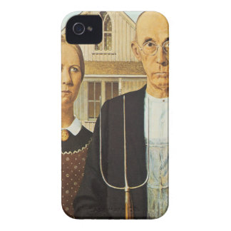 American Gothic by Grant Wood,reproduction art, iPhone 4 Cover