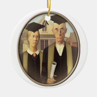 American Gothic Graduation Cameo Christmas Ornament