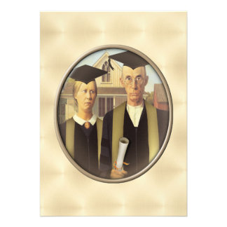 American Gothic Graduation Cameo on Gold Sheen Announcement