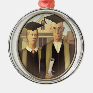 American Gothic Graduation (On Blank) Christmas Tree Ornament
