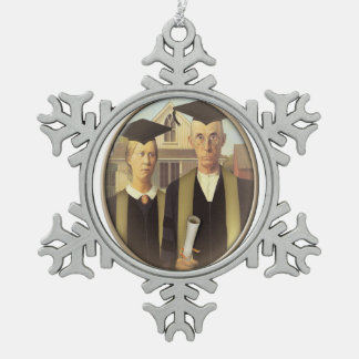 American Gothic Graduation (On Blank) Ornament
