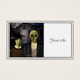 American Gothic Halloween Business Card