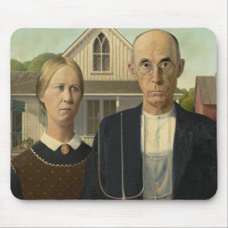 American Gothic Painting Mousepad