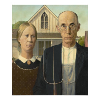 American Gothic Painting Photo