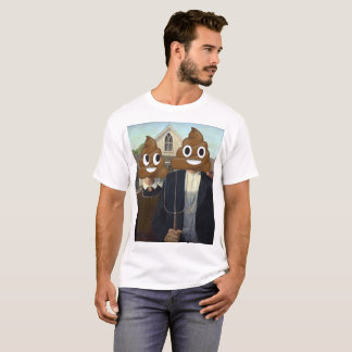 American Gothic with Happy Poop T-Shirt