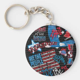American Graffiti Basic Round Button Key Ring