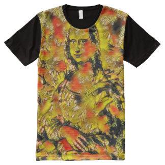 American Graffiti Mona Lisa Modern Portrait All-Over Print T-Shirt
