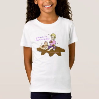 American Granny Backyard Spa Girl's Tee-Shirt T-Shirt