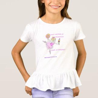 American Granny Ballerina Ruffled Girl's Top