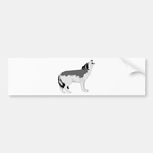 American Grey Wolf Destiny Nature Bumper Stickers