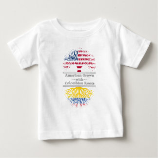 American Grown With Colombian Roots Great Gift Baby T-Shirt