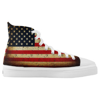 American Grunge Flag USA Printed Shoes