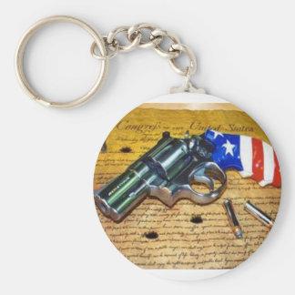 American Gun Keychain
