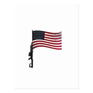 American Gunflag Postcard