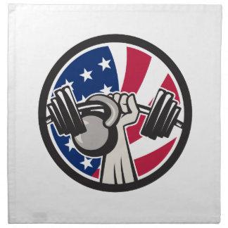 American Hand Barbell Kettlebell USA Flag Napkin