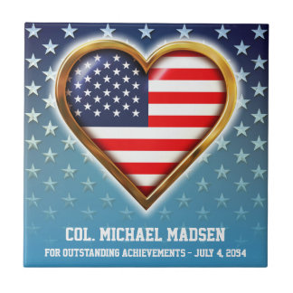 American Heart Ceramic Tile