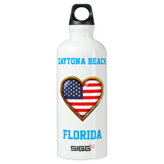 American Heart Customized With Your City And State Water Bottle