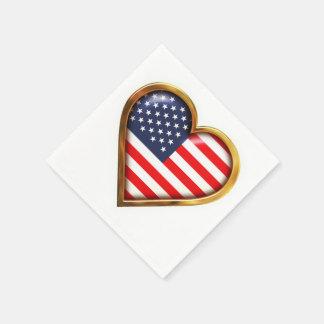 American Heart Disposable Serviettes