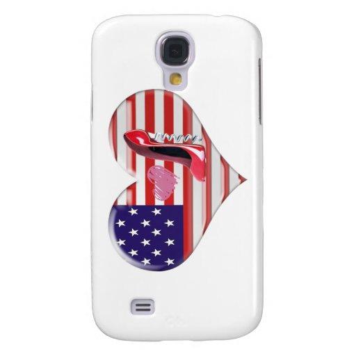 American Heart Flag and Corkscrew stiletto Shoe Samsung Galaxy S4 Case