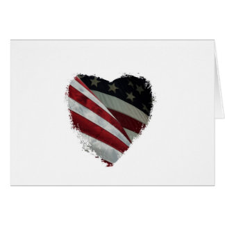 American Heart Flag Greeting Cards