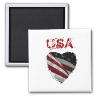 American Heart Flag Fridge Magnet