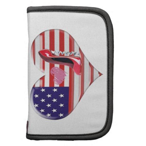 American Heart Flag, Stiletto Shoe Rickshaw Folio Folio Planner