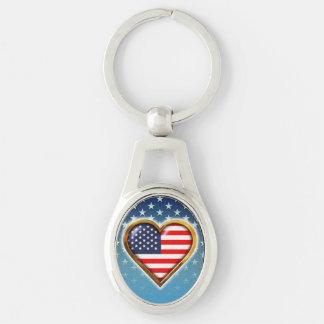 American Heart Key Ring