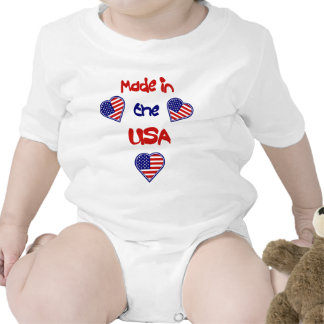 American Heart Made in the USA Infant Creeper