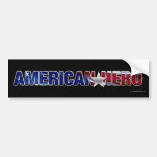 American Hero bumper sticker