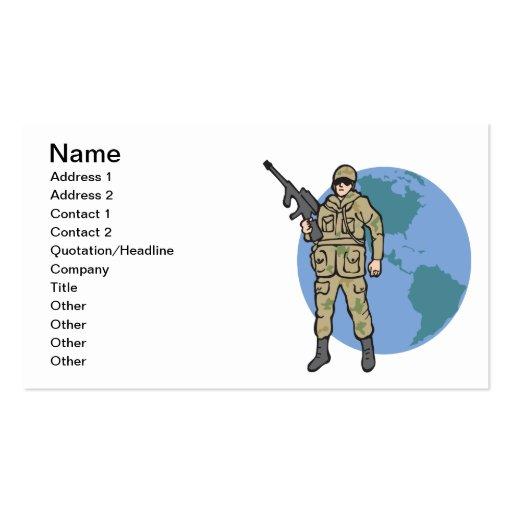 American Hero Business Cards