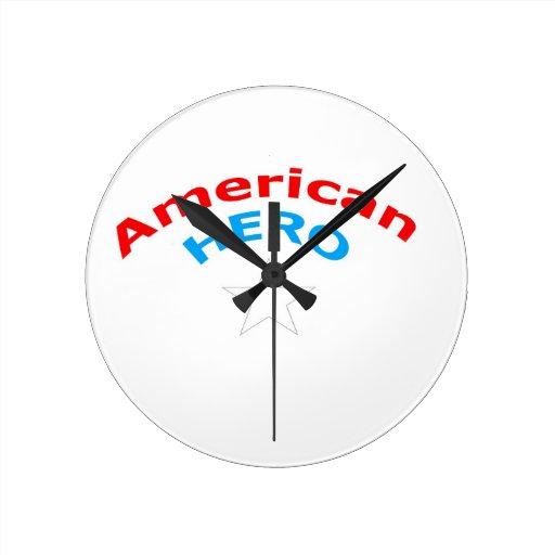 American Hero. Round Wall Clocks