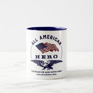 American Hero Eagle and Flag Two-Tone Coffee Mug