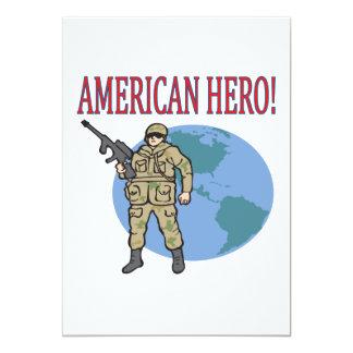American Hero 5x7 Paper Invitation Card