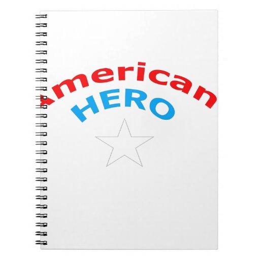 American Hero. Spiral Notebooks