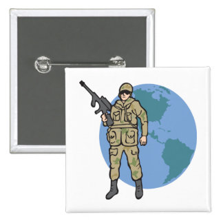 American Hero Pinback Button