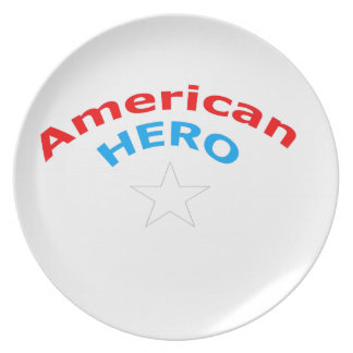 American Hero. Party Plate