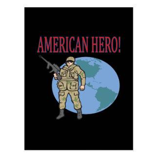 American Hero Postcard