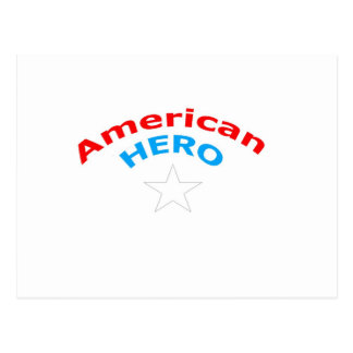 American Hero. Postcard