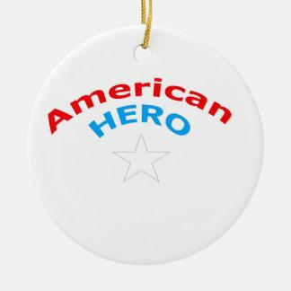 American Hero. Round Ceramic Decoration
