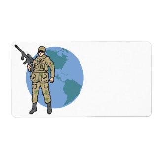 American Hero Shipping Label