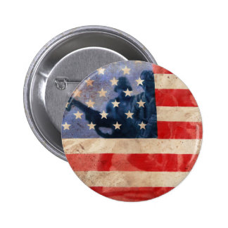 American Heroes Button