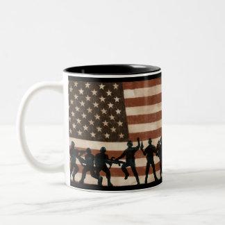American Heroes Two-Tone Coffee Mug