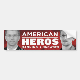 American Heros Bumper Sticker - Snowden / Manning Car Bumper Sticker