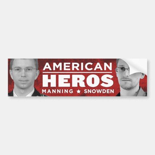 American Heros Bumper Sticker - Snowden / Manning
