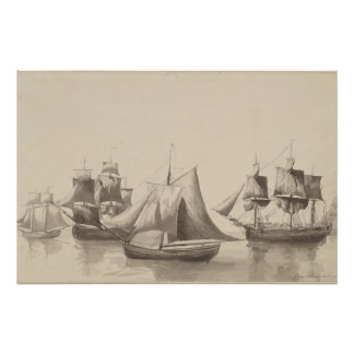 American History - Sailing from Halifax Poster